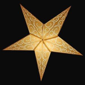 Weihnachtsstern aus Papier -inkl. Beleuchtungsset -Jameela curls -weiß - MoreThanHip