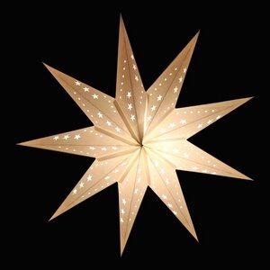 Sumana - Mittlegroßer Weihnachtsstern aus Papier weiss +  Beleuchtung  - MoreThanHip