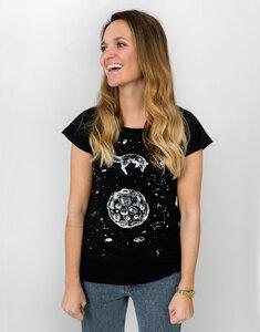 """Bio T-Shirt """"Lea Fuchs und Mond black""""  - Zerum"""
