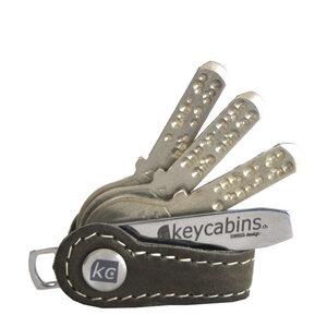 "Schlüsselhalter aus upcycling Leder ""keycabins"" mini-Loop - keycabins"