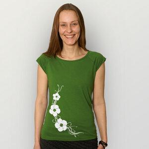 """""""Hibisken"""" Bamboo Frauen T-Shirt  - HANDGEDRUCKT"""