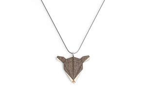Halskette Reh   Kette mit Anhänger aus Holz - BeWooden