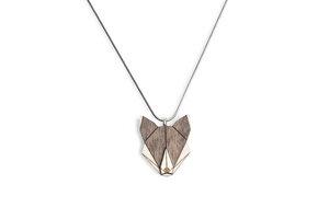 Halskette Wolf | Kette mit Anhänger aus Holz  - BeWooden