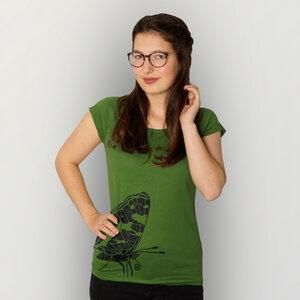 """""""Landkärtchen"""" Bamboo Frauen T-Shirt  - HANDGEDRUCKT"""