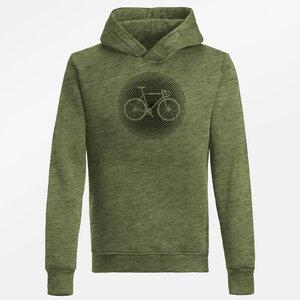 Hooded Sweater Star Bike Circle - GreenBomb