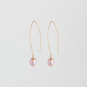 Pearl on Loop Earrings  - Julia Otilia Conscious Jewellery