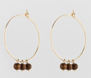 Sandelwood Creole Earrings - Julia Otilia Organic Jewellery