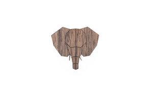 Brosche aus Holz - Elefant | Mode Schmuck - BeWooden