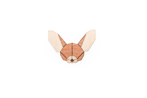 Brosche aus Holz - Fennec | Mode Schmuck - BeWooden