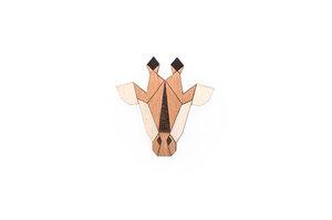 Brosche aus Holz - Giraffe | Mode Schmuck - BeWooden