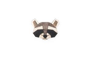 Brosche aus Holz - Waschbär | Mode Schmuck - BeWooden
