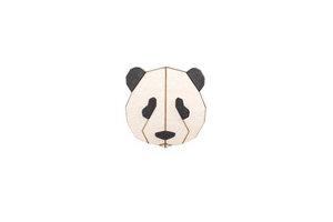 Brosche aus Holz - Panda   Mode Schmuck - BeWooden