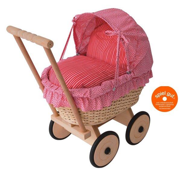 Lauflern Puppenwagen Aus Holz ~ Puppenwagen Pink aus Korbgeflecht von werkstatt design  bei Avocado