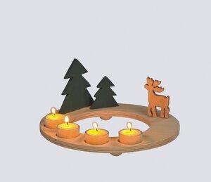 Lichterkranz Adventskranz  - werkstatt-design