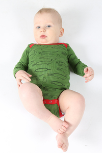 "Kipepeo Baby-Body ""Crocodiles"". Handmade in Kenya - Kipepeo-Clothing"