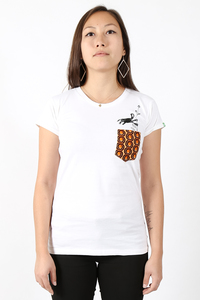"Kipepeo Frauen Shirt ""Nyani"". Handmade in Kenya. - Kipepeo-Clothing"