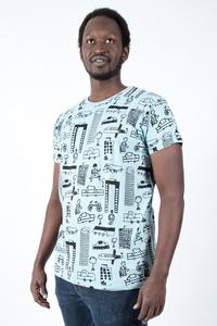 "Kipepeo Männer Shirt ""Nairobi City"". Handmade in Kenya. - Kipepeo-Clothing"