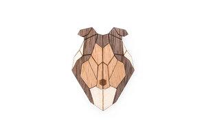 """Brosche aus Holz """"Collie""""   Mode Schmuck - BeWooden"""