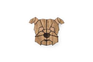 Brosche aus Holz - Herman | Mode Schmuck - BeWooden