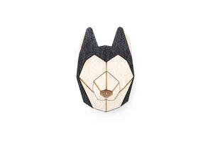 Brosche aus Holz - Husky    Mode Schmuck - BeWooden