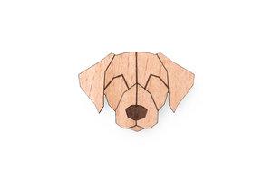 Brosche aus Holz - Labrador  | Mode Schmuck - BeWooden