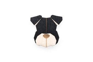Brosche aus Holz - Schnauzer   Mode Schmuck - BeWooden