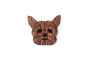 Brosche aus Holz -  YorkShire | Mode Schmuck - BeWooden