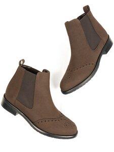 Brogue-Boots Veganes Wildleder Damen - Will's Vegan Shop