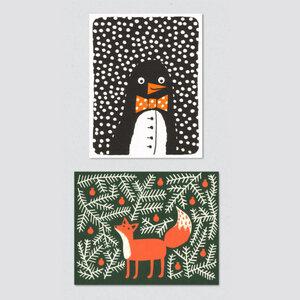 2 'tierische' Weihnachtskarten - Lisa Jones