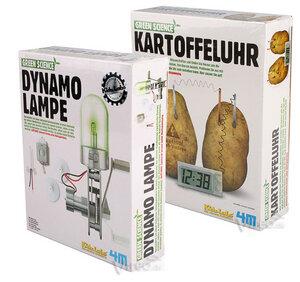 Dynamo Lampe und Kartoffeluhr - Green Science