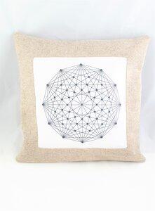 Kissen 40 x 40 cm aus reinem Wollfilz mit graphischem Bild - Süßstoff