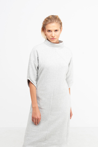 YOKO - Damen Kleid in Fleece-Optik aus Bio-Baumwolle - SHIPSHEIP