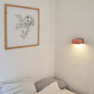 Wandleuchte Z6 aus Holz - exklusives Licht - ALMLEUCHTEN