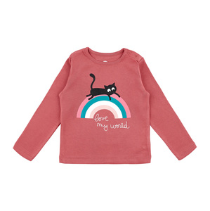Langarmshirt rainbow autumn pink GOTS - La Queue Du Chat