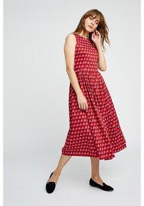 Kleid - V&A Esther Print Midi Dress - gemustert - People Tree