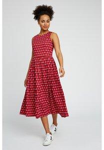 Kleid - V&A Esteher Print Midi Dress - gemustert - People Tree