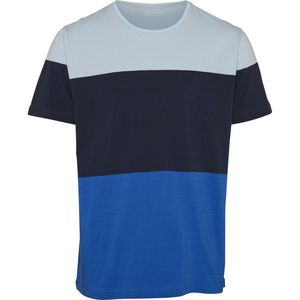 T-Shirt - Block striped cut and sew - Olympia Blue - KnowledgeCotton Apparel