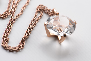 Vintage Bergkristall mit Kette – Einzelstück - MishMish by WearPositive