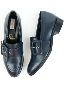 Schnalle Loafer Blau Damen - Will's Vegan Shop