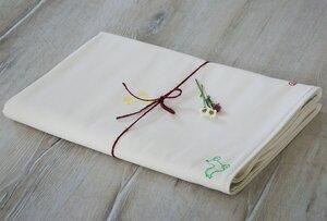 "Babydecke ""Holzpferde"", handbedruckt - luscinia"