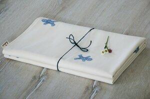 "Babydecke ""Lebkuchen blau"", handbedruckt - luscinia"