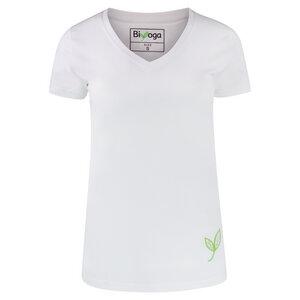 T-Shirt -GOTS- V-Ausschnitt Basic - Biyoga