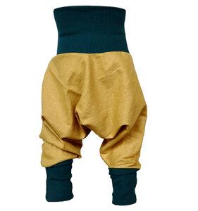 Festliche Yogahose Sarouelhose Pumphose Glitzer gold/grün o gold/braun - liebewicht