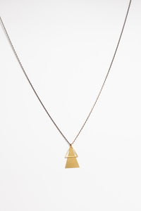 "Halskette ""LU"" aus Messing in Gold - ALMA -Faire Streetwear & Schmuck-"