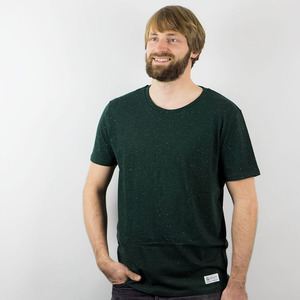 T-SHIRT BIO BAUMWOLLE TANNENGRÜN - DOTS - obumi