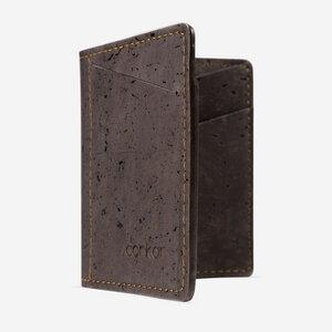Kork Karten-Portemonnaie mit Kleingeld-Fach - corkor