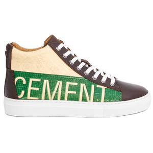 Recycling Sneaker High - Green Cement - Elephbo
