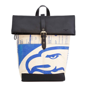Recycling Rolltop Rucksack - Blue Eagle - Elephbo