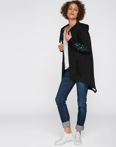 Sweat Cardigan #PLAYGROUND schwarz - recolution