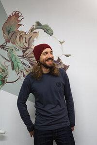 HH Bio T-Shirt Men/Unisex MOUNTAINS langarm GOTS - Himal Hemp